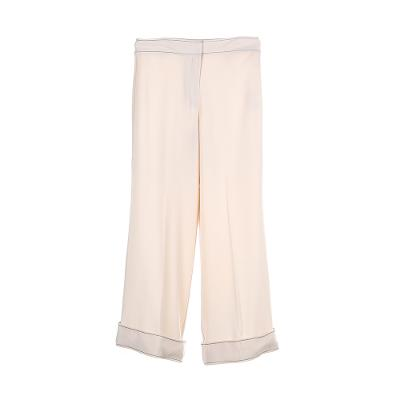 light wide pants beige